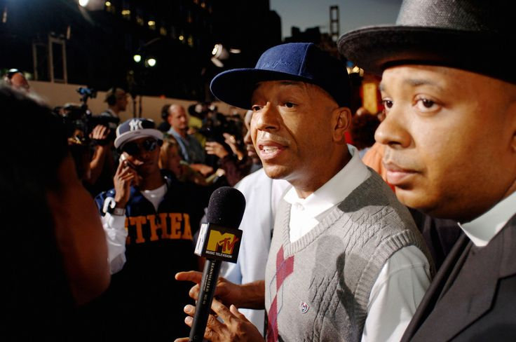 """Magnum Photos David Alan Harvey USA. New York City. 2006. Russell SIMMONS and brother Rev. """"Run"""" Joseph SIMMONS at the second annual VH1 Hip Hop Honors awards, Hammerstein Ballroom on 34th street"""
