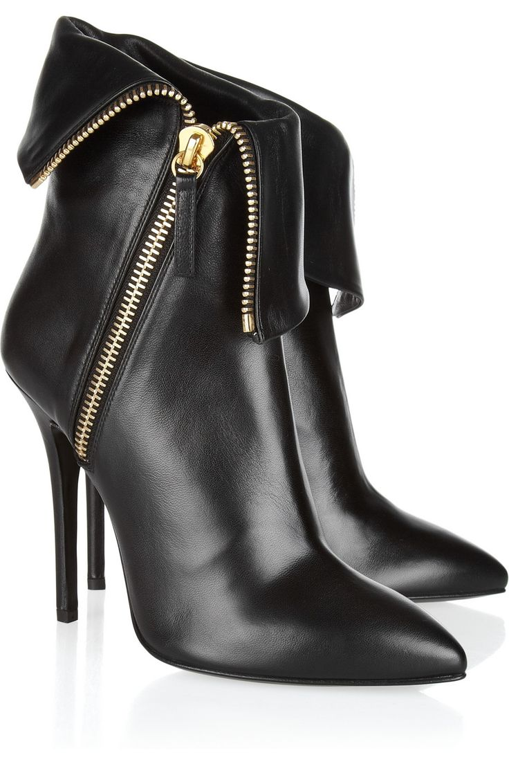 Giuseppe Zanotti | Folded leather ankle boots | NET-A-PORTER.COM
