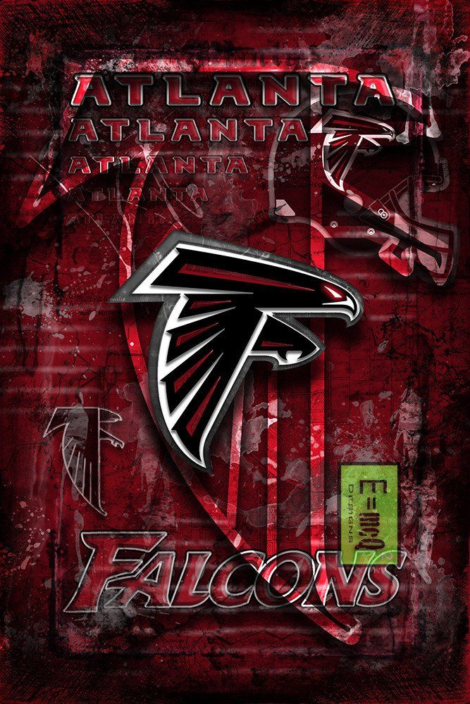 Atlanta Falcons Football Poster, Atlanta Falcons Gift, Atlanta Falcons                      – McQDesign