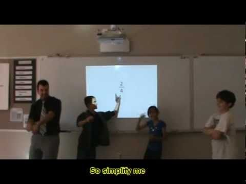 "Parody of ""Call Me Maybe"" about Simplifying Fractions…Great idea and fun with teachers and kids. You may want to ""perform"" at your own school... :)"