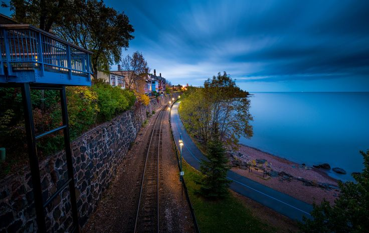 """Taken on the bridge near the Fitgers Hotel. The train track is the  North Shore Scenic Railroad, starting from Duluth Union Depot and leading all the way to Two Harbors. Used Breakthrough photography x4 3 stop ND filter and Sirui tripod. All adjustments done in Lightroom 6.  My other Duluth photos care be found in .<a href=""""http://likehe.zenfolio.com/p863331299"""">Zenfolio</a>"""