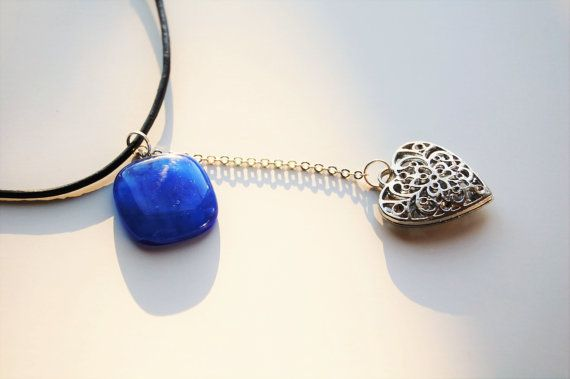 Hey, I found this really awesome Etsy listing at https://www.etsy.com/no-en/listing/270902665/light-at-heart-necklace-blue