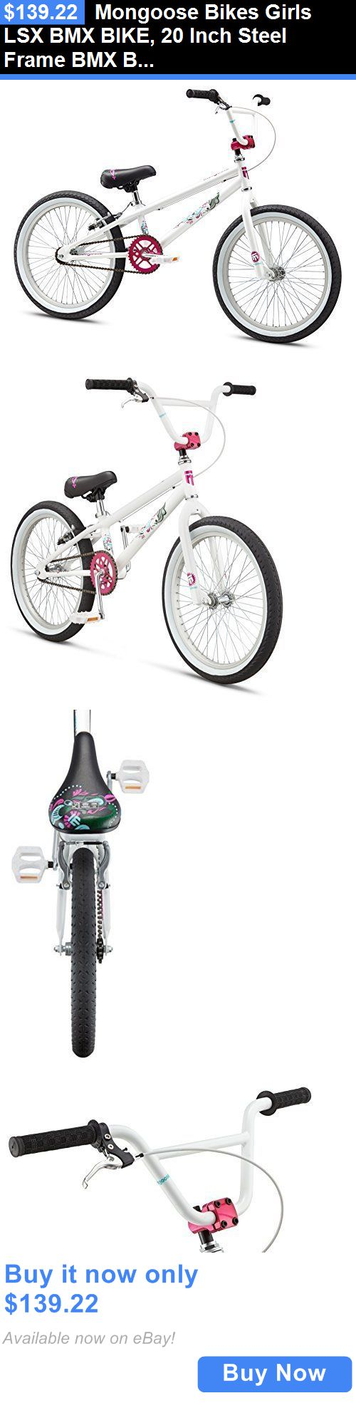 bicycles: Mongoose Bikes Girls Lsx Bmx Bike, 20 Inch Steel Frame Bmx Bicycle, White BUY IT NOW ONLY: $139.22