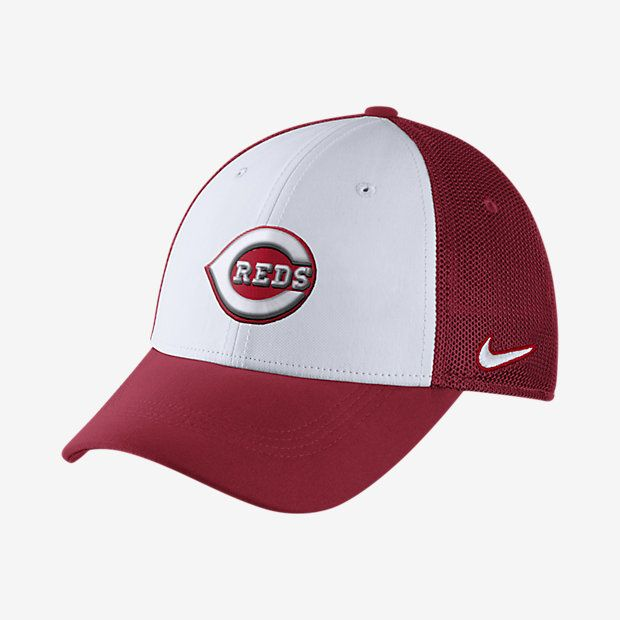 Nike Mesh Back Swoosh Flex (MLB Reds) Fitted Hat