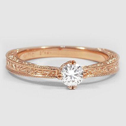 14K Rose Gold True Heart Ring