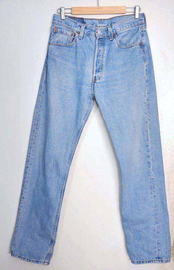 80s LEVI 501 button fly, high waisted, medium wash denim, mom, boyfriend jean Label size 30/32 fit today 28.