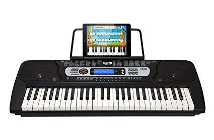 Rockjam Rj-654 Tastiera da Pianoforte Digitale Portatile a 54 Tasti con Leggio e Schermo LCD Interattivo
