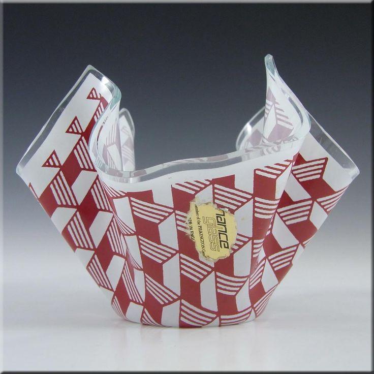 Chance Brothers Red Glass 'Carré/Escher' Handkerchief Vase - £39.99