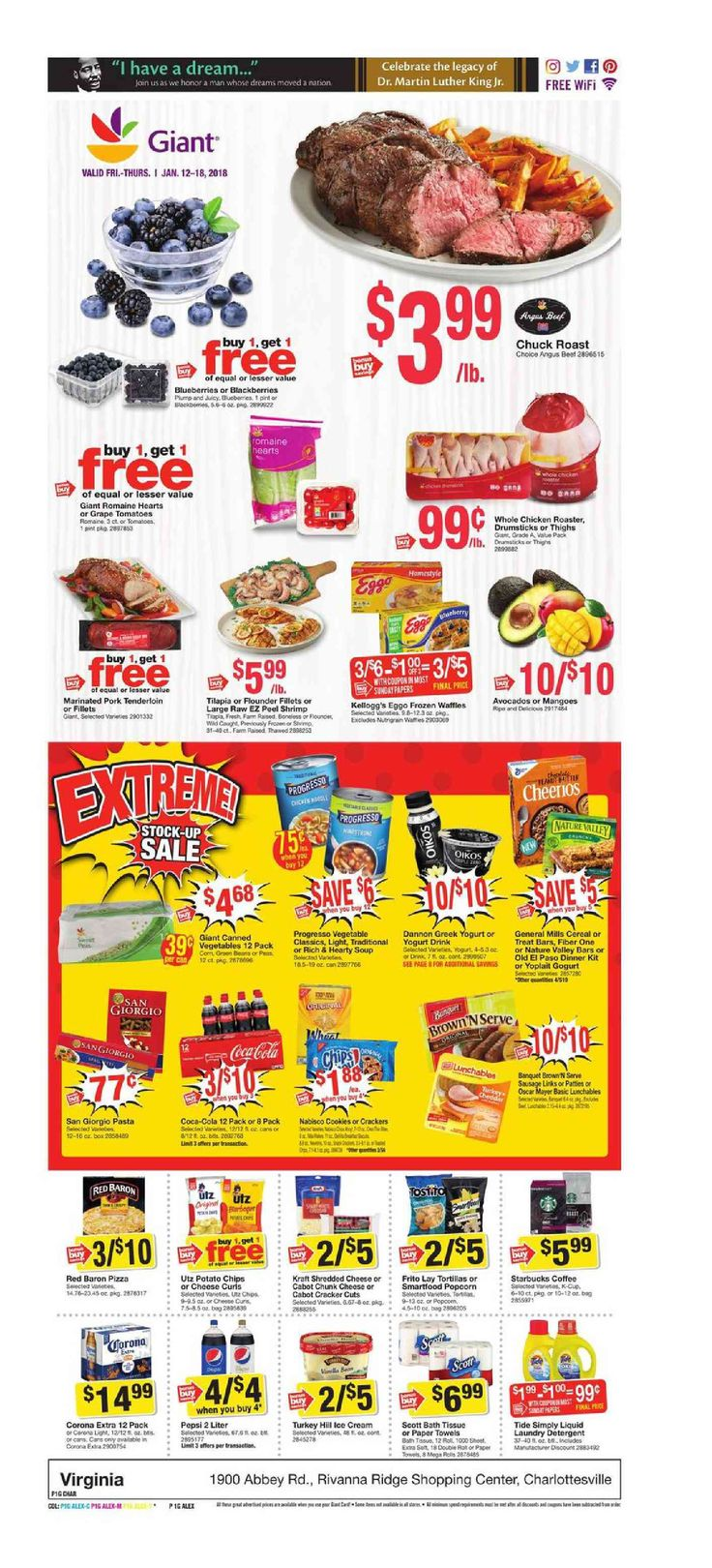 Giant Food Weekly Ad January 12 – 18, 2018 – Giant Food, Grocery weekly ad comes on the scene almost per week but sometimes people see the Giant Food, Grocery ad plus they are quick to throw it out. Checking the ads every week and clipping the coupons that may inside weekly circulars can actually be an exceptionally rewarding experience. Giant Food, Grocery regularly includes coupons which will equate his much as 50% off your purchase. Therefore you could try out