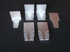 V-Lock Set 4-Pack $189.95  This is 4 Standard Aluminum V-Lock Base Units with 6 inserts.    A 40.00 discount off the regular price!  Choose:  All flat inserts  All bent inserts  3 each flat and bent inserts (shown in picture)