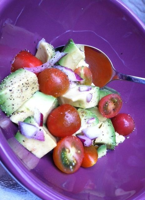 Summer Avocado Salad For One. | Avocado salads, Summer and Salads