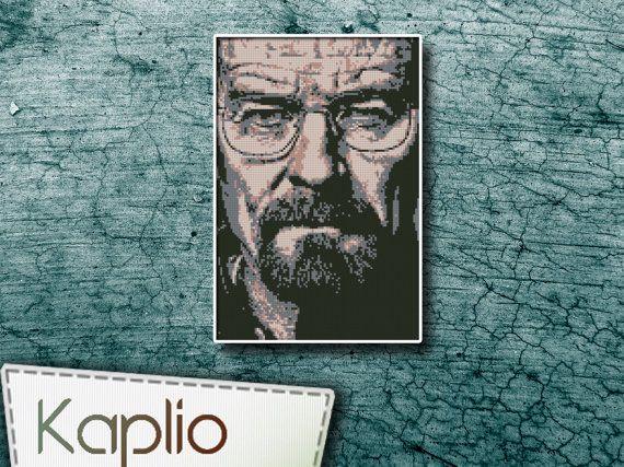 Walter White Cross Stitch Pattern by Kaplio on Etsy, $4.00