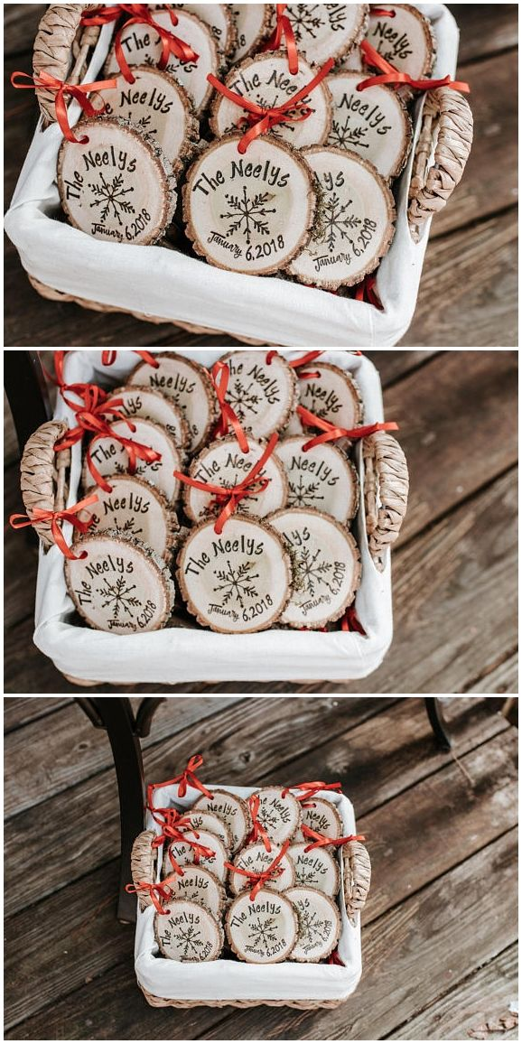 Rustic Wedding Favors Snowflake Wedding Favors Winter Wedding