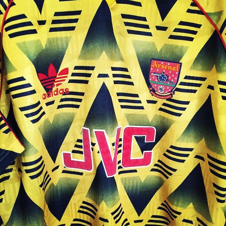 1991-93 Arsenal away shirt XL - bruised  is here. Get your adidas classic on http://ift.tt/1dRUZVs now #Football #footballshirt #footballshirtcollective #soccer #soccershirt #arsenal #arsenalfc #afc #uta #vintagefootball #adidas #adidasvintage #adidasfootball #premierleague #kitnerd #trikot