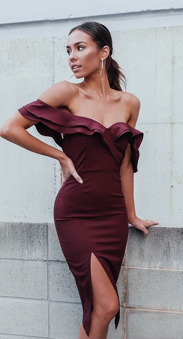 amazing maroon dress