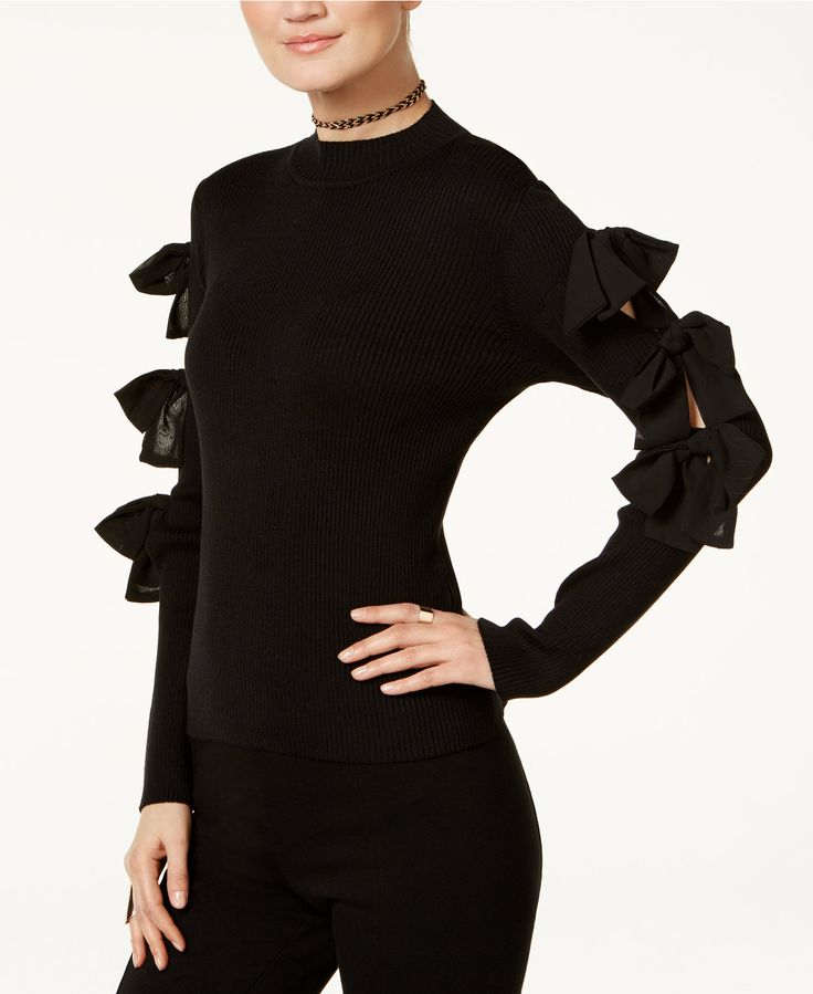 INC International Concepts Bow Sweater, Only at Macy's - INC International Concepts - Women - Macy's