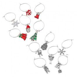 Identify your wine glass at the dinner table with the decorative wine glass charms. 6 pack.