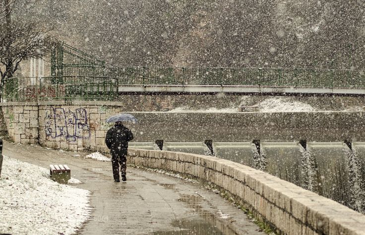 This photo brings such a warm and cozy feelings and memories. Bembasa (or Bentbasa) the street I grow up in!!  Snow in Sarajevo -