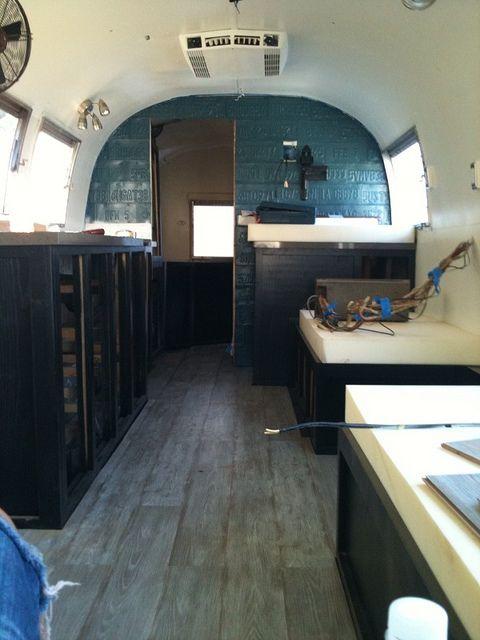 Custom Airstream Renovation By Avante Interiors Via