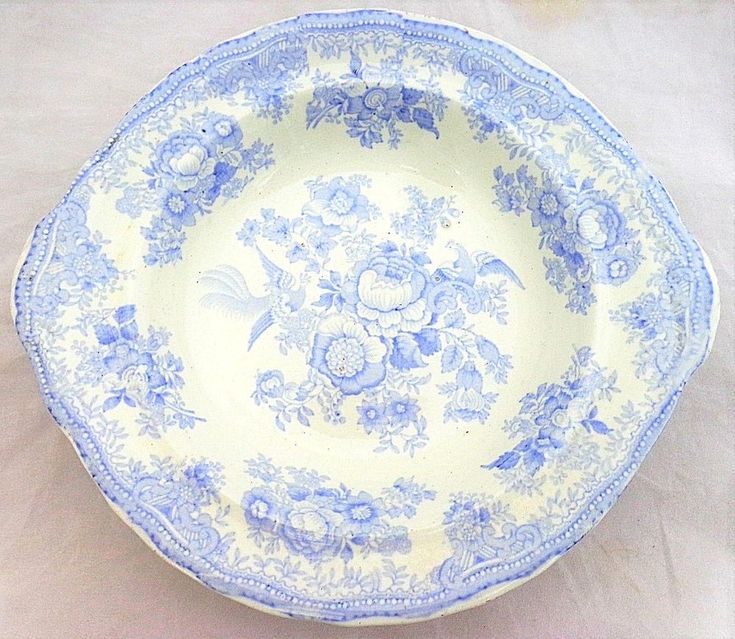 Antique Blue & White Asiatic Pheasants Pattern Vegetable Tureen Base BM&T c 1890 #Victorian #Tureens