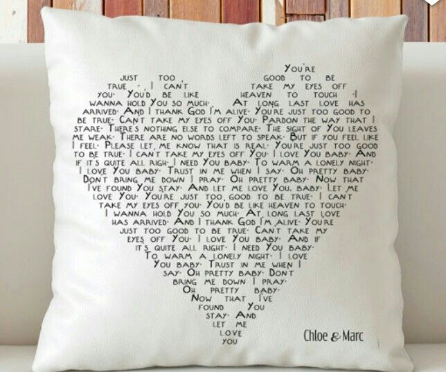 Customized Wedding Song Throw Pillow Perfect For 2nd Cotton Anniversary