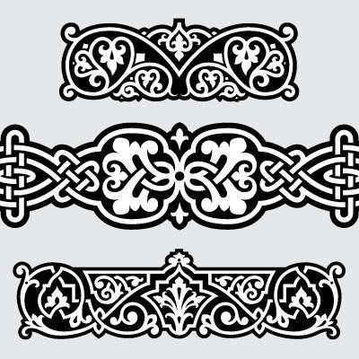 """""""Russian Borders"""" is a high quality, royalty-free vector set that is superversatileand will allow you to add incredible complexity to your designs with ease. Combine, connect, modify and experiment to create killer boarders, backgrounds and anything else you can think of. Download includes: 20 highly detailed .eps format, vector design elements."""