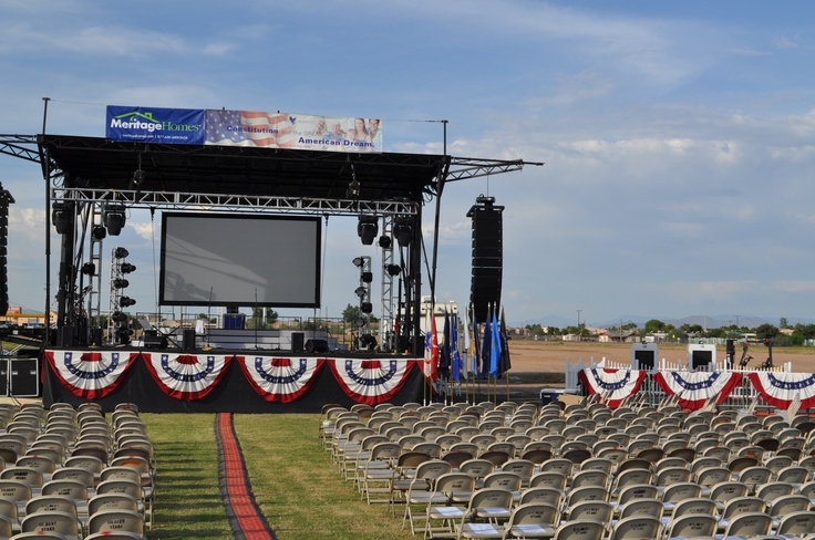 Basic outdoor staging in a park  #concerts#fourthofjuly