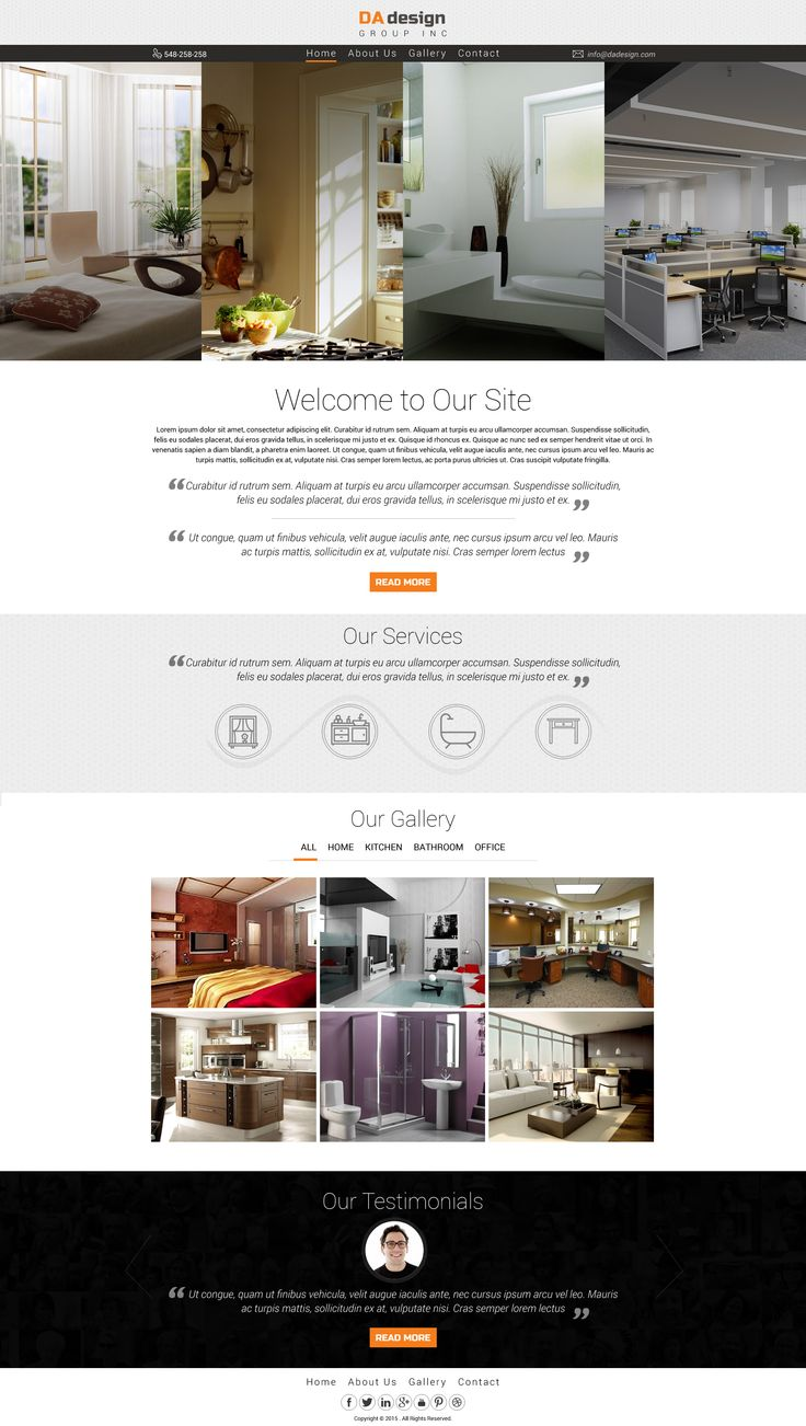 Interior design website template design