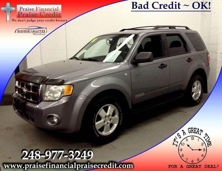 Call Tony 313-736-2799 2008 Ford Escape XLT AWD SUV V6 #Ford #Escape #XLT #AWD #SUV #V6 #FastFinancing