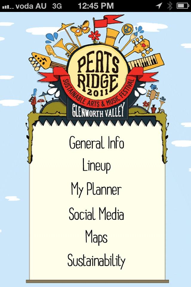 Peats Ridge Festival 2012 iPhone App @PeatsRidge