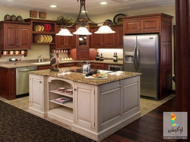 Small kitchen design layout ideas with nice shelving unit kitchen design ideas for small galley kitchens with red oak kitchen cabinet finishing also lovely