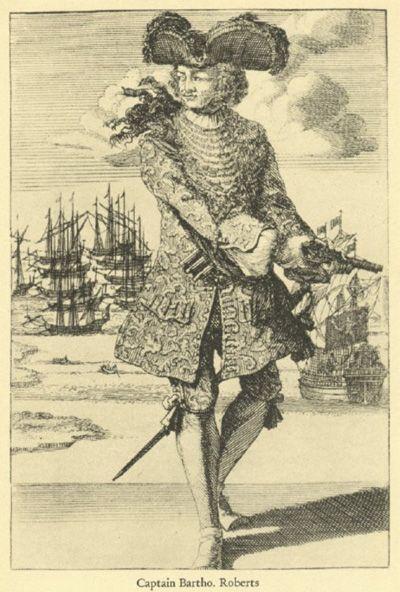 barbados pirate history   Bartholomew Roberts - Biography of Famous Pirate