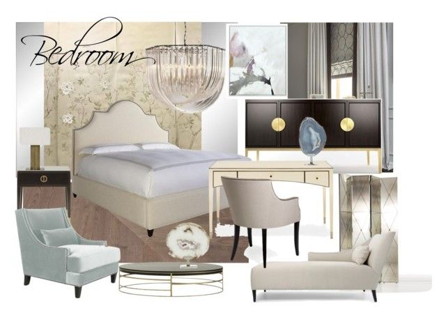 bedroom zr3 by naala-art on Polyvore featuring polyvore, interior, interiors, interior design, home, home decor, interior decorating, Arteriors, Delfi, Bernhardt and bedroom