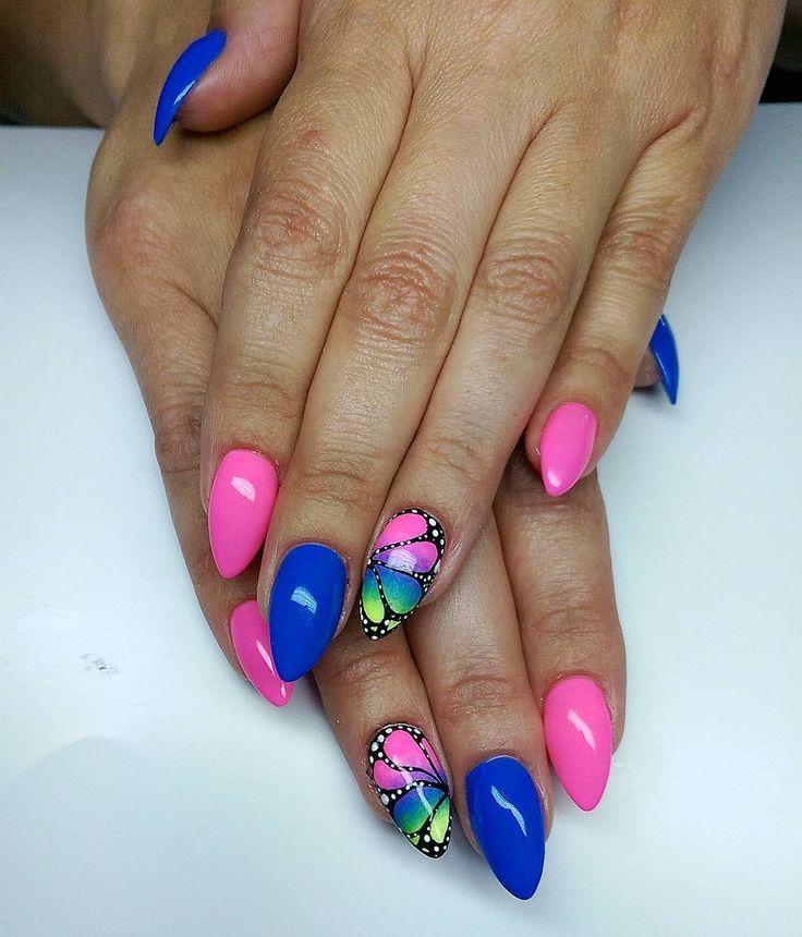 50 Идей, как нарисовать бабочки на ногтях — Фото пошагово ...