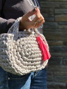 DIY Capazo Midi Trapillo. Santa Pazienzia. Patrón crochet
