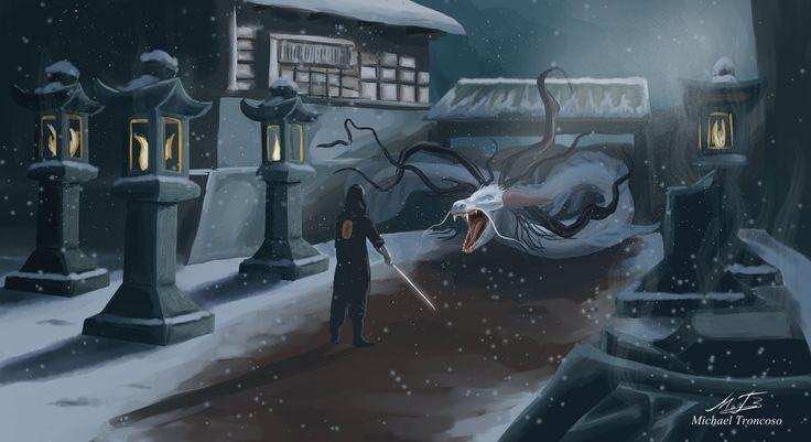 El Samurai y el Dragon by Barvo on DeviantArt