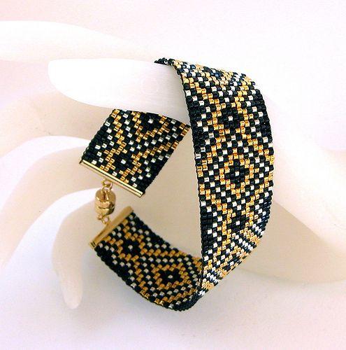 Diamond Gold Royale Bead Loom Bracelet | Flickr - Photo Sharing!