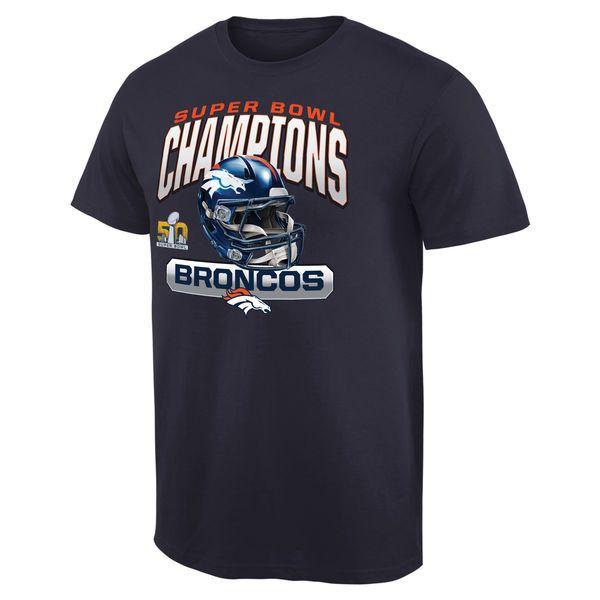 Denver Broncos Pro Line Super Bowl 50 Champions Swing Pass T-Shirt - Navy - $20.99