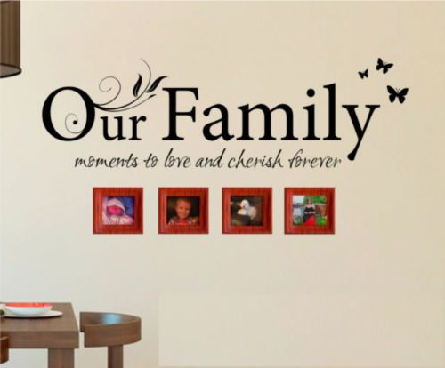 OUR FAMILY WALL STICKERS  sc 1 st  Pinterest : sticker wall art uk - www.pureclipart.com