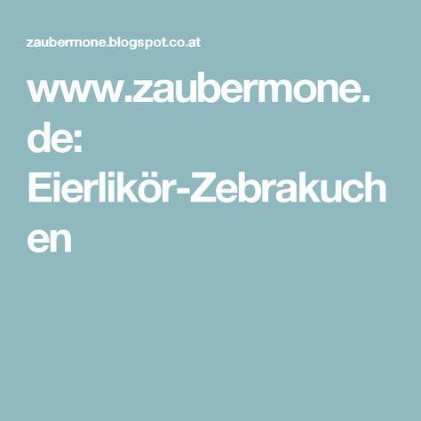www.zaubermone.de: Eierlikör-Zebrakuchen