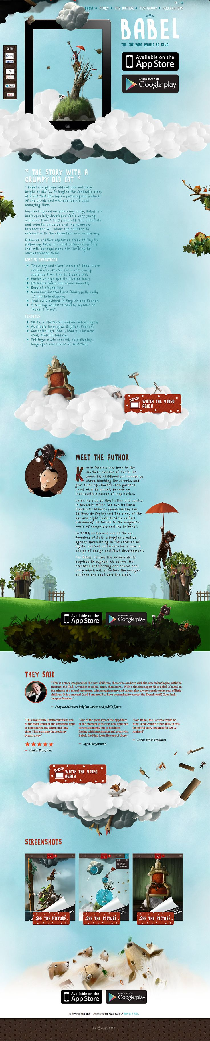 """Babel, the cat who would be king.""  Amazing app and website 