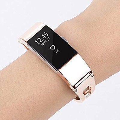for fitbit charge 2 bands treasuremax stainless steel replacement accessory bracelet band large. Black Bedroom Furniture Sets. Home Design Ideas