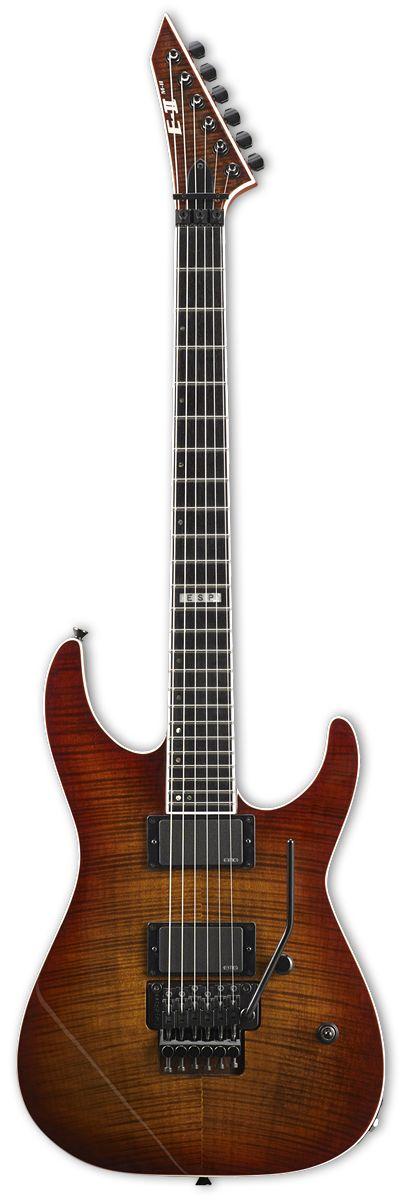 ESP E-II M-II FM ACSB Flamed Maple Amber Cherry Sunburst Electric Guitar