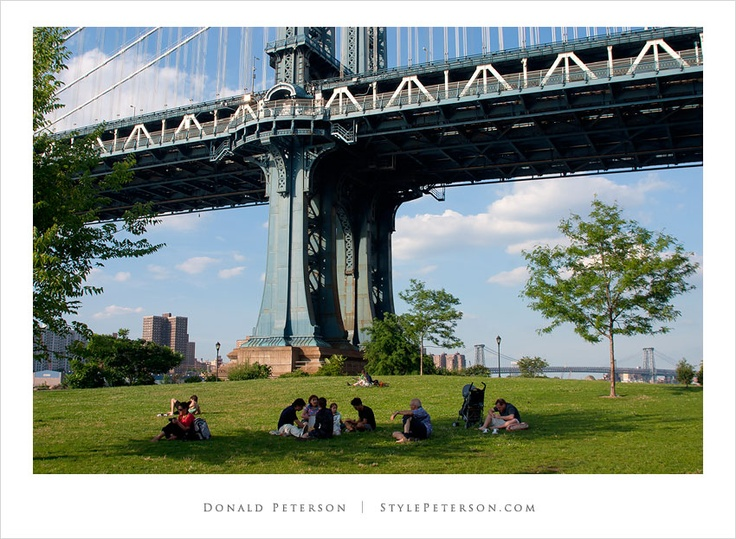 Park under the Brooklyn Bridge photo by Donald Peterson