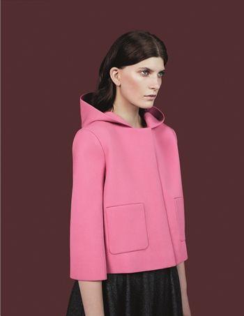 Little pink ridding neoprene hood