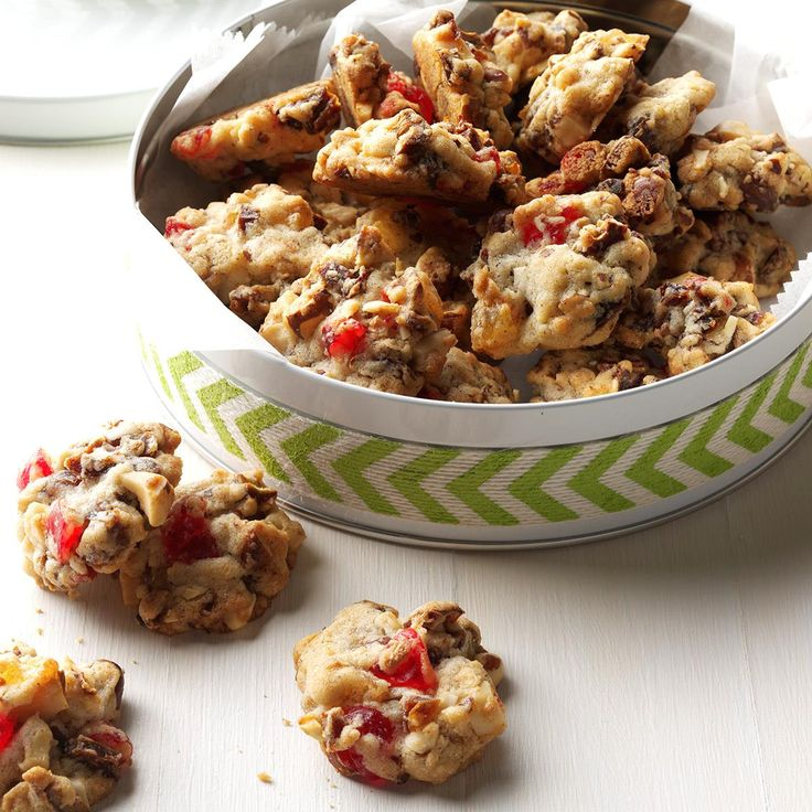 Candied Fruit Cookies Recipe -These no-fuss drop cookies are both nutty and fruity, so they're always a hit at holiday time. —Florence Monson, Denver, Colorado