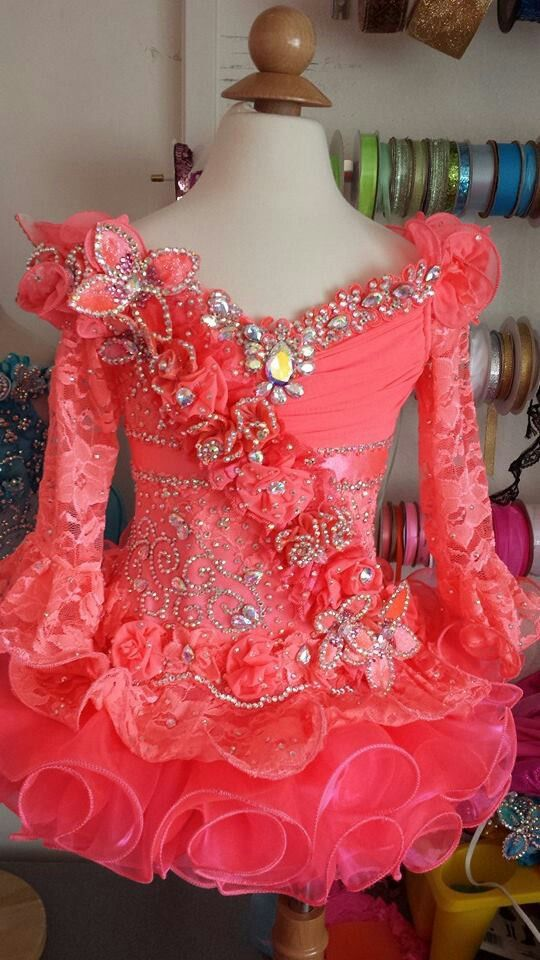 Royalty Design full glitz pageant dress.  www.royaltydesigns.net