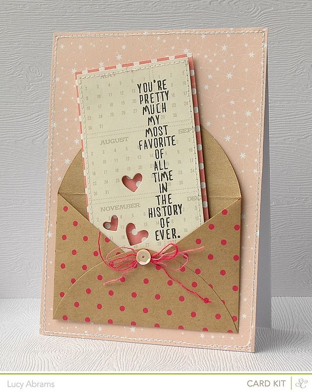 i LOVE the pop-dotted phrase and the colorful paper behind to show off the hearts. SO COOL!