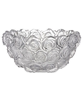 Monique Lhuillier Waterford Crystal Bowl, Sunday Rose - Bowls & Vases - for the home - Macy's