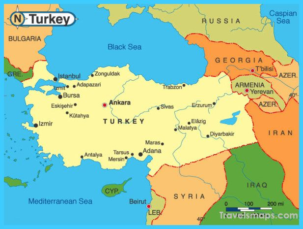 cool Map of Turkey